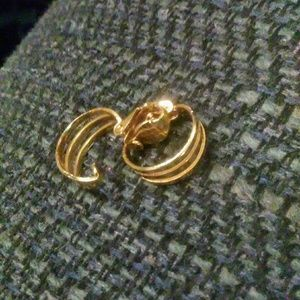Vintage small clip on hoops